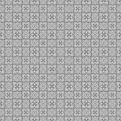 seamless monochrome ornament squares