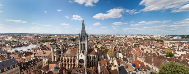 Foto auf AluDibond Luftaufnahme Panoramique Dijon