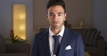Handsome Mexican man in suit