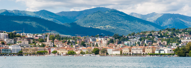 Beautiful panorama of Lugano city, south of Switzerland
