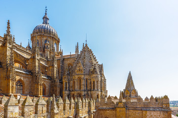New Cathedral (Catedral Nueva), Old City of Salamanca, Spain. UNESCO World Heritage