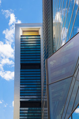 MADRID, SPAIN - MAY 28, 2015: Madrid city, business centre, Cuatro Torres