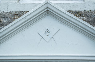 Masonic sign on wall