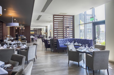 interior of stylish restaurant