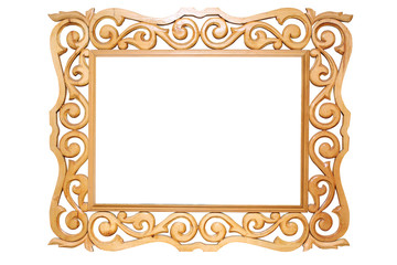 carved wooden ancient frame