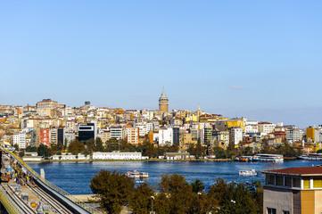 Panorama of Bosphorus river in Istanbul, Turkey