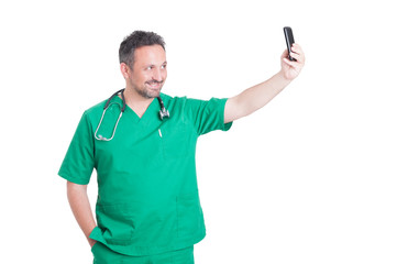 Medic taking a selfie