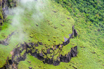 Aerial view of the  Kaieteur NAtional Park, Guyana, South America