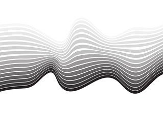 mobious optical art wave vector background black and white
