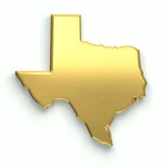 Texas golden map. 3D design