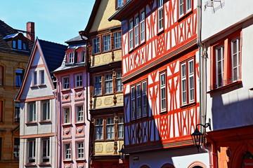 Mainz, die historischen Fachwerkhäuser in der Augustinenstraße (Juni 2015)