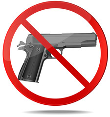 No guns vector sign.