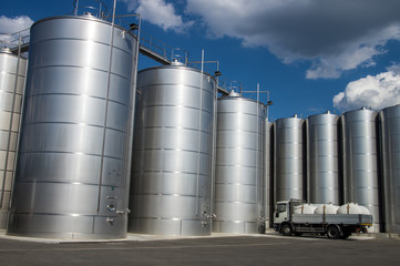 Silos in tuscany, for wine and cereal storage