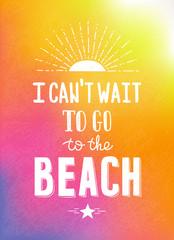 Hand drawn bright summer motivational poster