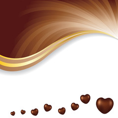 Vector illustration of soft brown dark chocolate abstract background