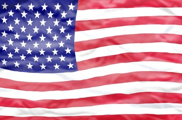 United States of America flag. Wavy flag of United States of America fills the frame.
