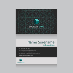 technology business name card