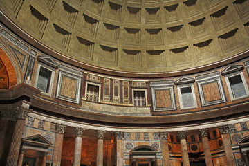 Interior of Pantheon in Rome