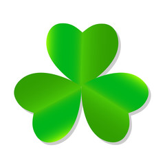 Three Leaf Green Clover. Vector Illustration.
