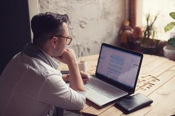 Working man in startup center