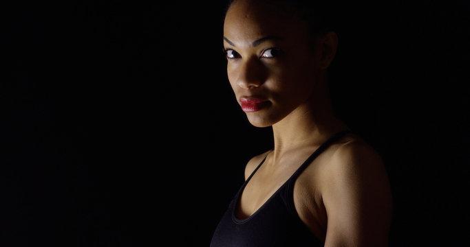 Moody portrait of black woman