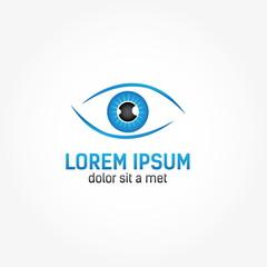 Eye vision vector design template