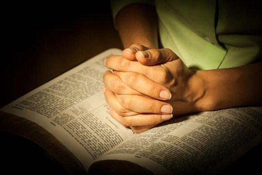 Bible, Praying, Silence.