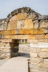 Gate to Hierapolis, Pamukkale, Turkey. UNESCO World Heritage
