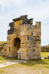 Martyrion of Saint Philip, ancient ruins in Hierapolis, Pamukkale, Turkey. UNESCO World Heritage