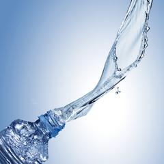 Water Splash From Water Bottle