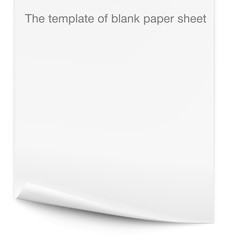 The template of blank paper sheet
