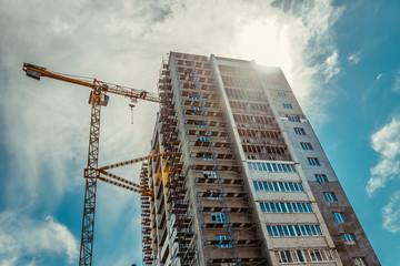 Construction crane Fototapete