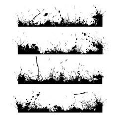 Four black frames splash