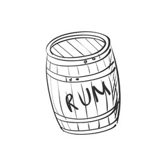 doodle barrel of rum