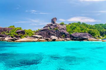 Beautiful sea and blue sky at Similan island