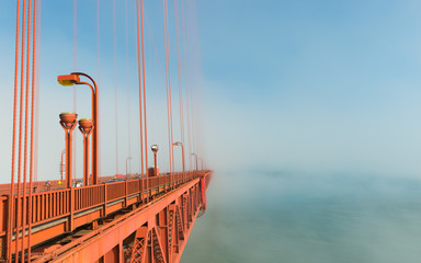 Famous bridge in California, San Francisco