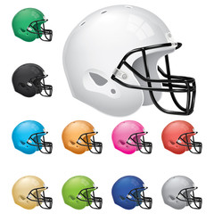 American Football Helmet Set