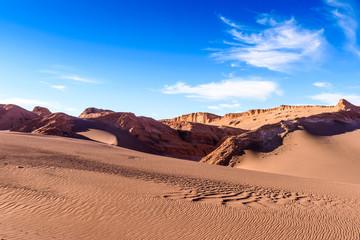 Dunes in Moon Valley, Atacama Desert, Chile, South America