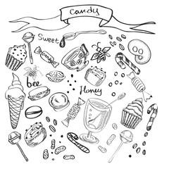 Illustration of diffrent sweet