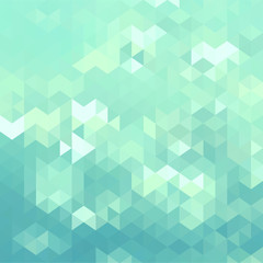 Stylish mosaic background with turquoise green color tones
