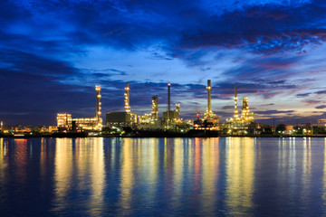 Morning Light at Oil refinery at Bangkok Thailand