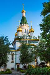 The Russian church in the centre of Sofia city, Bulgaria
