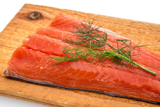 sockeye salmon ready for grilling
