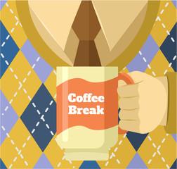 Coffee break. Vector flat illustration