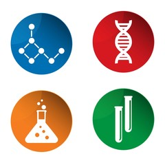 Science icons. Experiment icon. Vector