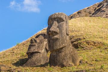 Moaia at Rapa Nui National Park, Easter Island (Isla de Pascua), CHile. Unesco World Heritage