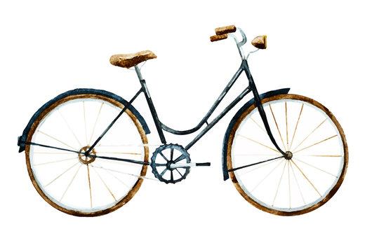 Watercolor bike