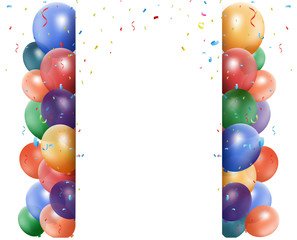 Colorful birthday balloon