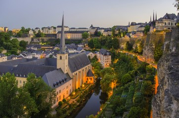 Luxembourg old city view
