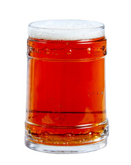 Glass of Red Ale. isolated on a white background